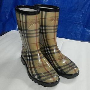 Burberry rain boots  10 inch high